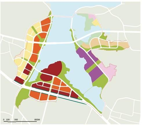 2).城市功能结构图     3).道路系统图     4).