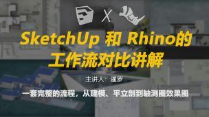 SketchUp和Rhino的工作流对比讲解