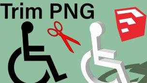 SketchUp 2020也能修剪PNG图像噢!