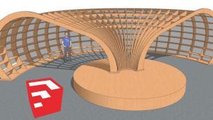 Rapana街图书馆SU模型制作