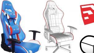 SketchUp教程:游戏椅建模